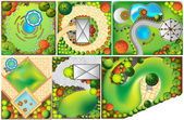 Collections od  Landscape Plan with treetop symbols — Stock Photo