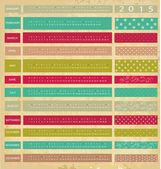 Vintage calendar for 2015 — Stockvektor