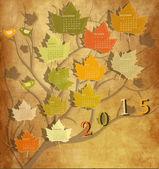 Vintage calendar for 2015 — Stock Vector