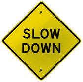 Slow Down — Stock Photo