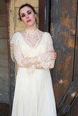 Victorian dress — Stock Photo