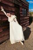 Victorian dress — Stock Photo