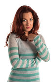 Striped sweater — Stock Photo