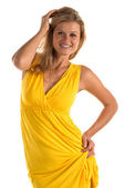 Yellow dress — Stock Photo