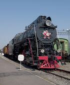 Cargo steam locomotive LV18 — Stock Photo
