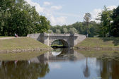 The bridge in Gatchina Palace Park — Stock Photo