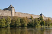 The walls of the Ivangorod fortress — Stock Photo