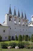 Prohlédni si na zvonici kláštera nanebevzetí tichvinský. tichvinský — Stock fotografie