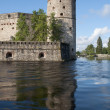 View of the tower  Kijlin the fortress of Olavinlinna. Savonlinna, Finland — Stock Photo