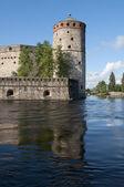 """View of the tower """" Kijlin"""" the fortress of Olavinlinna. Savonlinna, Finland — Zdjęcie stockowe"""