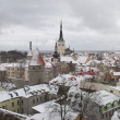 Winter in the old Tallinn — Stockfoto