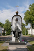 Monument to the monk Makarii in the town of Kalyazin — Stok fotoğraf