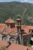 View on the belfry of the monastery Maheras. Cyprus — Stock Photo