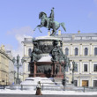 Monument to Nicholas I on St. Isaac's square. Saint-Petersburg — 图库照片