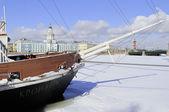 En invierno el río neva. san petersburgo — Foto de Stock