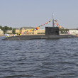 Submarine in the water area of Neva — Stock Photo