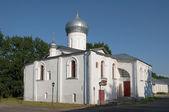 Church of Nikola White Nicholas White of the monastery. Veliky Novgorod — Stock Photo