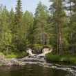The Ruskeala waterfall. Karelia — Stock Photo