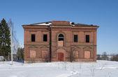 Old merchant's house on a winter day. Staraya Ladoga — Zdjęcie stockowe