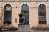 Monument to I. S.Turgenev in Saint-Petersburg — Stock Photo
