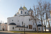 The Cathedral of Sophia the Wisdom of God (St. Sophia Cathedral). Veliky Novgorod — Foto de Stock