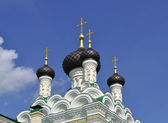 The dome of the Church of the life-giving Trinity in Ivangorod — Stock Photo