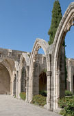 Arch Abbey of Bellapais. Northern Cyprus — Stock Photo