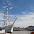"Stock Photo: Sailing ship ""Suomen, joutsen"" in Museum of ""Forum Marinum"". Turku, Finland"