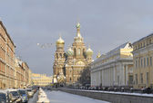 View of the Church of the Resurrection in a winter day. Saint-Petersburg — Stock Photo