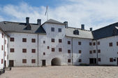 Inner courtyard of the castle of Turku. Finland — Stock Photo