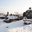 In St. Petersburg Museum of railway transport winter day — Stock Photo