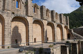On the ruins of the Abbey of Bellapais. Northern Cyprus — Stock Photo