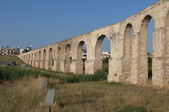 Fragment of the aqueduct Kamares in Larnaca. Cyprus — Stock Photo