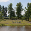 Stockfoto: Summer in Maryino Palace. Leningrad region