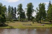 Lato w maryino pałacu. leningrad regionie — Zdjęcie stockowe