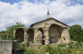 The ruins of the madrassah to the mosque of Khan Uzbek. Old Crimea — Stock Photo