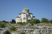 View on the St. Volodymyr Cathedral in Khersones. Sevastopol — Foto Stock