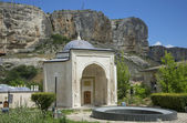 View of the mausoleum of the first Crimean khans in Salachik. Bakhchisaray — Stock Photo