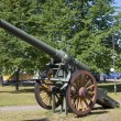 French 155-millimeter cannon-77 model 1877 in Hamina. Finland — Stock Photo