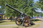 Français 155 millimètres canon-77 modèle 1877 à hamina. finlande — Photo