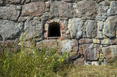 Fragment of the wall with crenel ancient Bastion. Hamina, Finland — Stock Photo