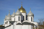 The Dome Of St. Sophia. Veliky Novgorod — Foto Stock