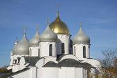 The Dome Of St. Sophia. Veliky Novgorod — Stock fotografie