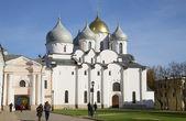 St sophia-katedralen höstdag. veliky novgorod — Stockfoto