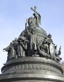 "Fragment of the monument ""Millennium of Russia"". Veliky Novgorod — Stock Photo"