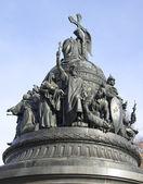 """Fragment pomnika """"tysiąclecia rosji"""". veliky novgorod — Zdjęcie stockowe"""