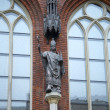 Monument to the founder of Riga Bishop Аlbert von Buxhoevden on the wall of the Cathedral. Riga — Stock Photo