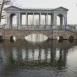 Stock Photo: Marble bridge on cloudy November day. Tsarskoye Selo