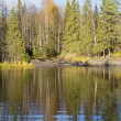October day on forest lake. Karelia — Stock Photo #35767677