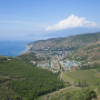 "View of the resort village ""Rybache on the South coast of the Crimea — Stock Photo #35821307"